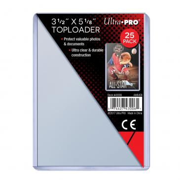 "Ultra PRO 3-1/2"" X 5-1/8"" Toploader 25ct"