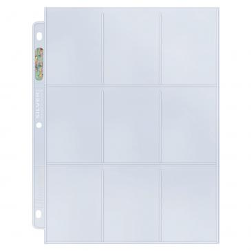 Ultra PRO SP Images Exclusive 9-Pocket Silver Series Page for Standard Size Cards, Bulk 25-Count Pack