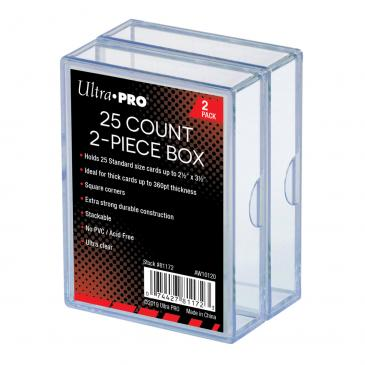 Ultra PRO 2-Piece 25 Count Clear Card Storage Box, 2 Pack