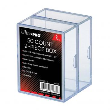 Ultra PRO 2-Piece 50 Count Clear Card Storage Box, 2 Pack