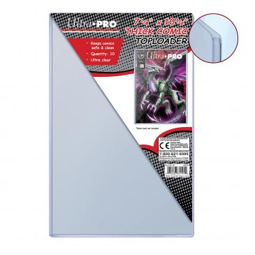 """Ultra PRO 7-1/8"""" X 10-1/2"""" Thick Comic Toploader 10ct"""