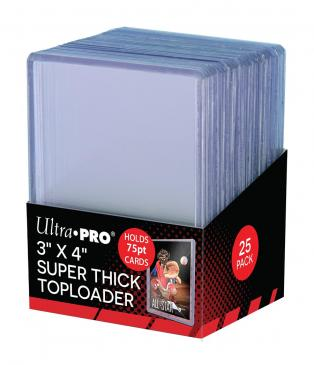 "Ultra PRO 3"" X 4"" Thick 75PT Toploader 25ct"