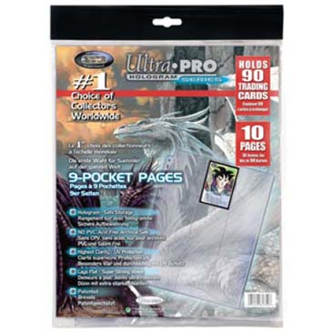 Ultra PRO 9-Pocket 11-Hole Platinum Page Refill Pack (10-pack)