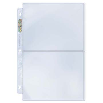 """Ultra PRO 2-Pocket Platinum Page with 5"""" X 7"""" Pockets"""
