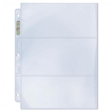 """Ultra PRO 3-Pocket Platinum Page with 3-1/2"""" X 7-1/2"""" Pockets"""