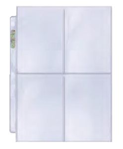 """Ultra PRO 4-Pocket Platinum Page with 3-1/2"""" X 5"""" Pockets"""