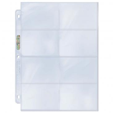"""Ultra PRO 8-Pocket Platinum Page with 3-1/2"""" X 2-3/4"""" Pockets"""