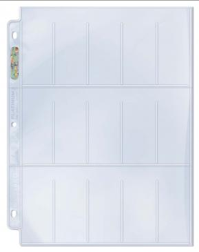 Ultra PRO 15-Pocket Platinum Page for Tobacco Cards