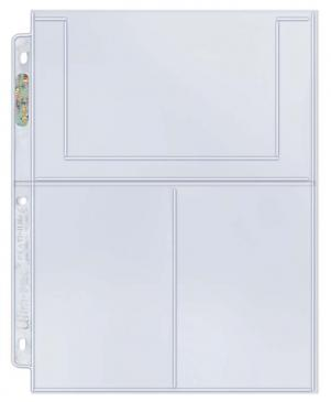"""Ultra PRO 3-Pocket Platinum Page for 4"""" X 6"""" Photos"""