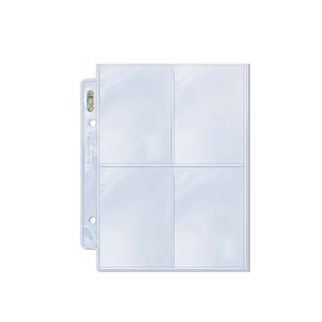 Ultra PRO 4-Pocket Platinum Page for Mini 2-Ring Albums