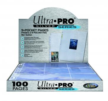 Ultra PRO 9-Pocket Silver Series Page for Standard Size Cards