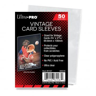 "Ultra PRO 2-3/4"" X 3-15/16"" Vintage Card Sleeves"