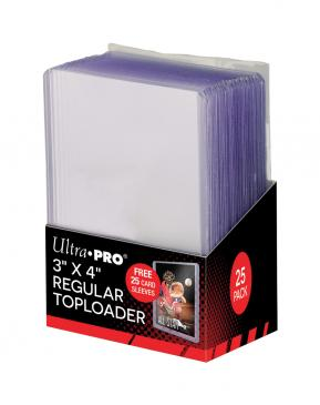 "Ultra PRO 3"" X 4"" Clear Toploader with Card Sleeves 25ct"
