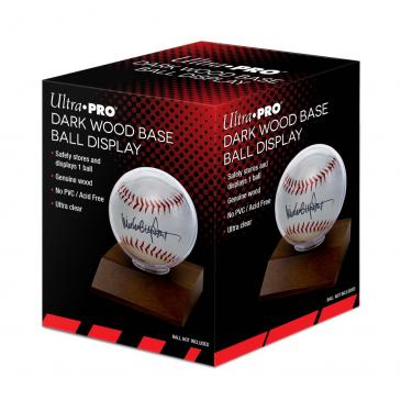 Ultra PRO Baseball Dark Wood Holder