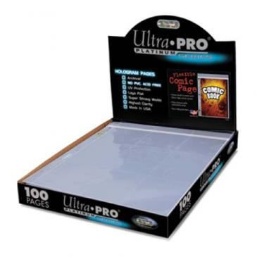 """Ultra PRO Comic Page 7-1/4"""" X 10-1/2"""" with 3-Hole Spine"""