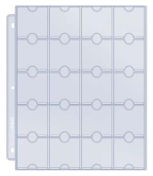 Ultra PRO 20-Pocket Platinum Page for Coins and Tokens