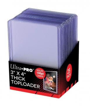 "Ultra PRO 3"" X 4"" Thick 100PT Toploader 25ct"