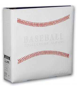 "Ultra PRO 3"" White Stitched Baseball Card Collectors Album"