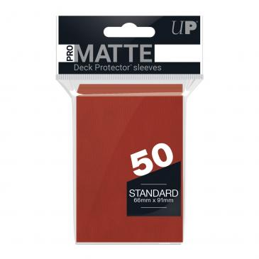 Ultra PRO 50ct Pro-Matte Red Standard Deck Protectors