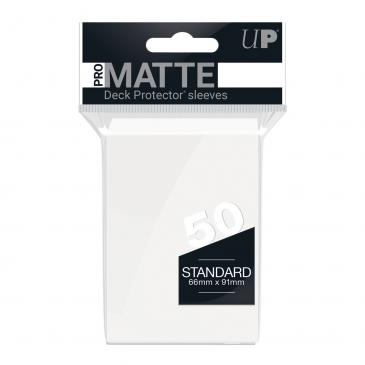 Ultra PRO 50ct Pro-Matte White Standard Deck Protectors