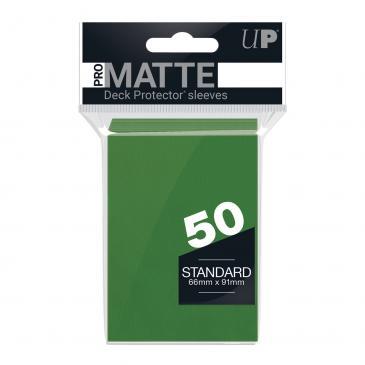 Ultra PRO 50ct Pro-Matte Green Standard Deck Protectors