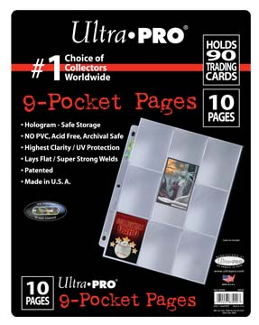 Ultra PRO 9-Pocket Platinum Page for Standard Size Cards (10-Pack)
