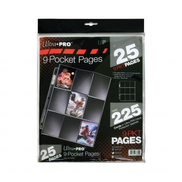 Ultra PRO Ultra PRO Silver Series 9-Pocket Pages (25 count retail pack)