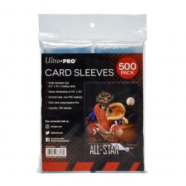 "Ultra PRO Clear Card Sleeves for Standard Size Trading Cards - 2.5"" x 3.5"" (500 ct.)"