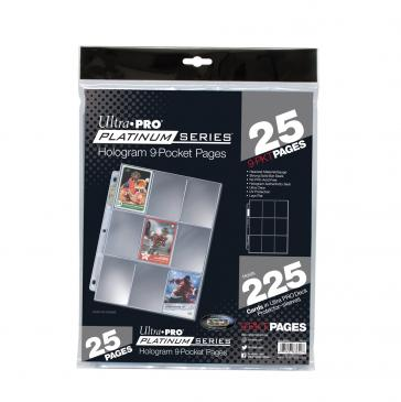 Ultra PRO Ultra PRO Platinum Series 9-Pocket Pages (25 count retail pack)
