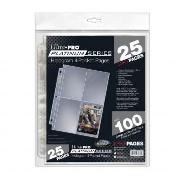 Ultra PRO Ultra PRO Platinum Series 4-Pocket Pages (25 count retail pack)