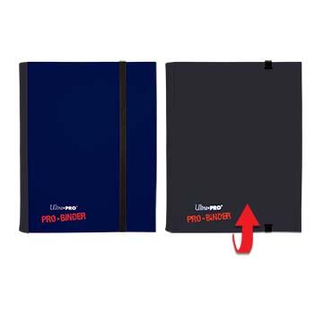Ultra PRO 4-Pocket Blue & Black Flip PRO-Binder