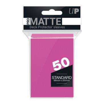 Ultra PRO 50ct Pro-Matte Bright Pink Standard Deck Protectors