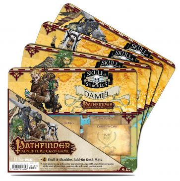 Ultra PRO Pathfinder Adventure Card Game: Skull & Shackles Expansion Mini Mat 4 Pack