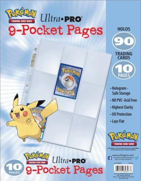Ultra PRO Pokémon 9-Pocket Pages - 10 Pack (Bulk)