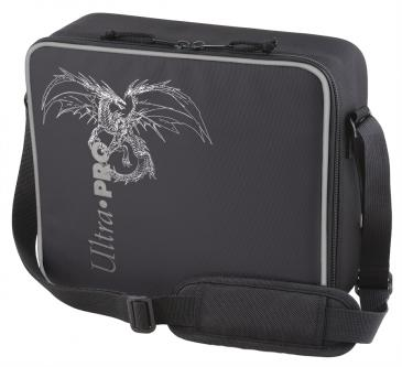 Ultra PRO Deluxe Gaming Case Black Dragon with Silver Trim