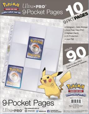 Ultra PRO Pokémon 9-Pocket Pages - 10 Pack (11-Hole)