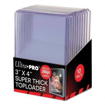 "Ultra PRO 3"" x 4"" Super Thick 260PT Toploader 10ct"