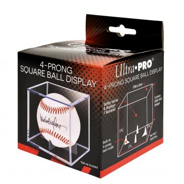 Ultra PRO Baseball Clear Square Holder (4-Prong)