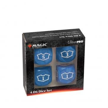 Ultra PRO Deluxe 22MM Blue Mana Loyalty Dice Set for Magic: The Gathering