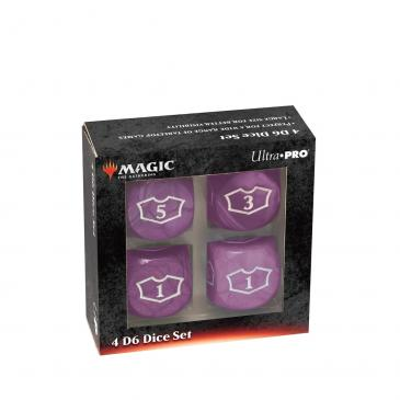 Ultra PRO Deluxe 22MM Black Mana Loyalty Dice Set for Magic: The Gathering