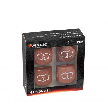 Ultra PRO Deluxe 22MM Red Mana Loyalty Dice Set for Magic: The Gathering