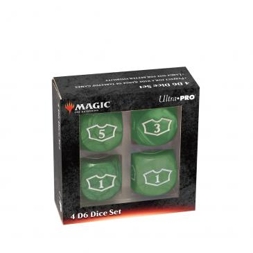 Ultra PRO Deluxe 22MM Green Mana Loyalty Dice Set for Magic: The Gathering
